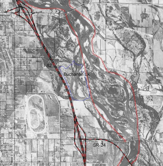 2004 Infrastructure Overlay on 1927 Photo