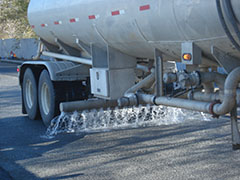 Dumping Water Onto Porous Concrete