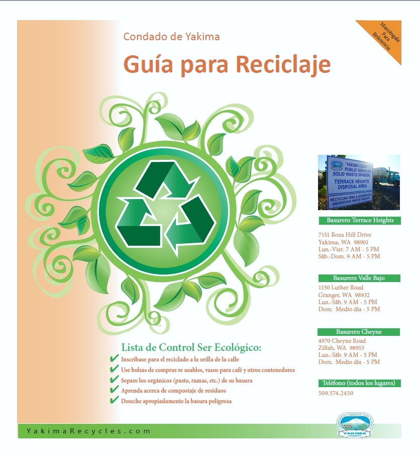 2015 Spanish Recycling Guide Yakima County