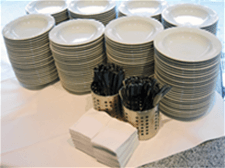 Restaurant Plates and Forks