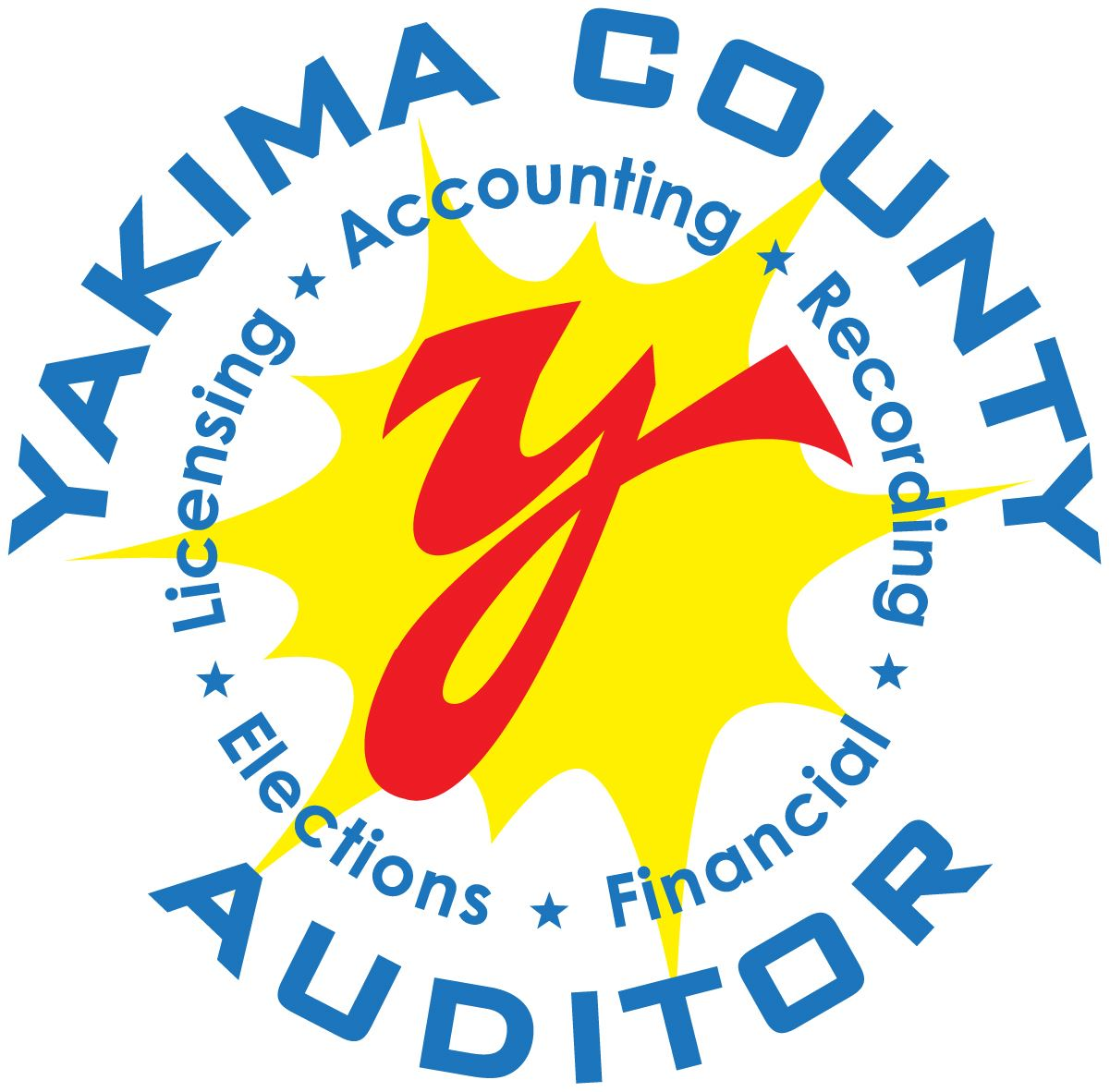 Yakima County Auditor Logo Licensing Accounting Recording Elections and Financial