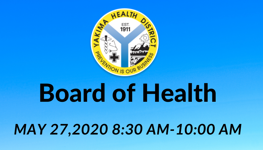 Board of health flyer with Yakima Health District Logo