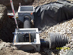 Installation of sampling vaults